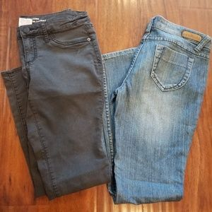 2 pairs of skinny jeans and leggings size 9